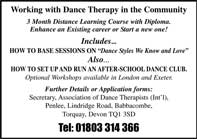 dance therapy within the community